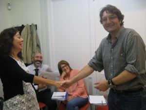 Ricardo Navarro, aluno do sexto nível do Centro Cultural do Brasil em Barcelona ganhou a primeira fase do Concurso Machado de Assis.