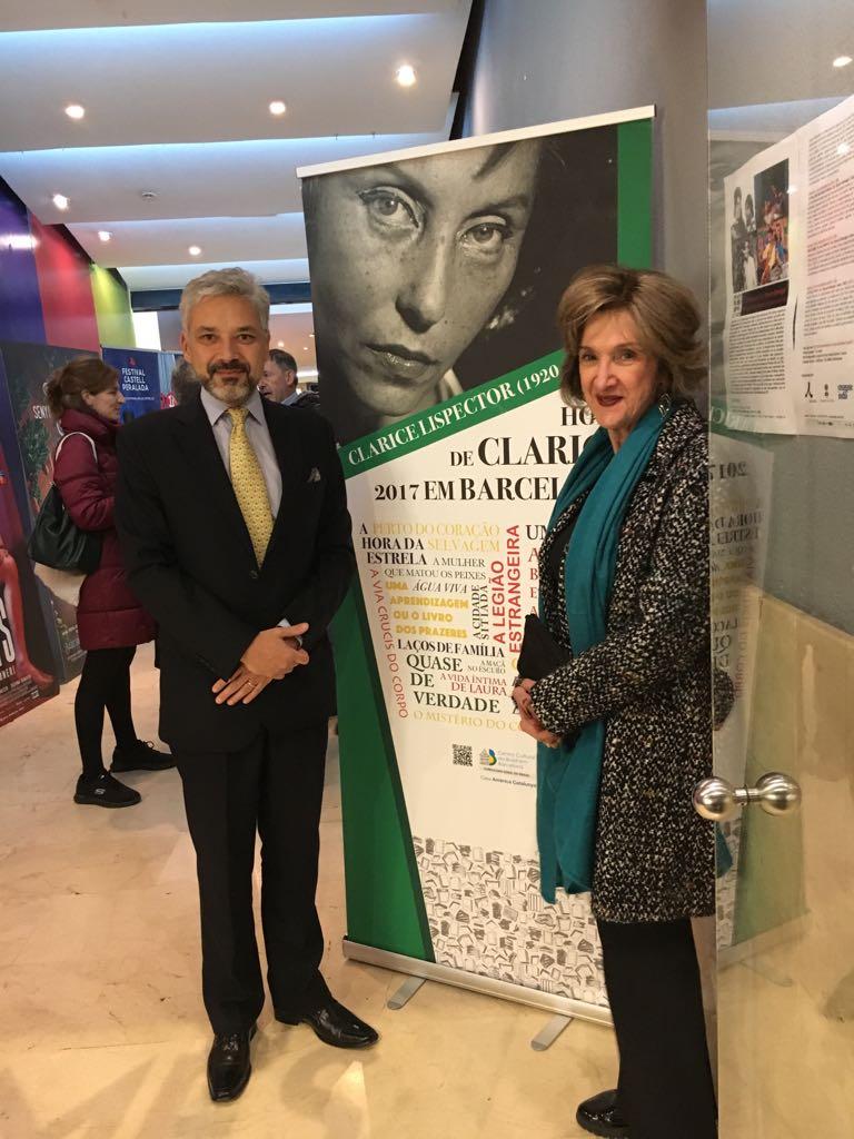 No Cine Girona - Embaixadora Maria Elisa Berenguer, Cônsul-Geral do Brasil, e Ministro Gustavo Menezes, Cônsul-Geral Adjunto do Brasil em Barcelona